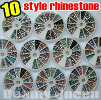 Nail Art Rhinestones acrylic nail wheel - 10 style shape Nail Art Rhinestone color Glitter beads Acrylic Tips acrylicstone in Wheel