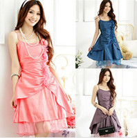 Wholesale Gorgeous amp Noble Wedding Celebration Party Necessary Dress For Bride amp Bridesmaid Satin Blue Skirt