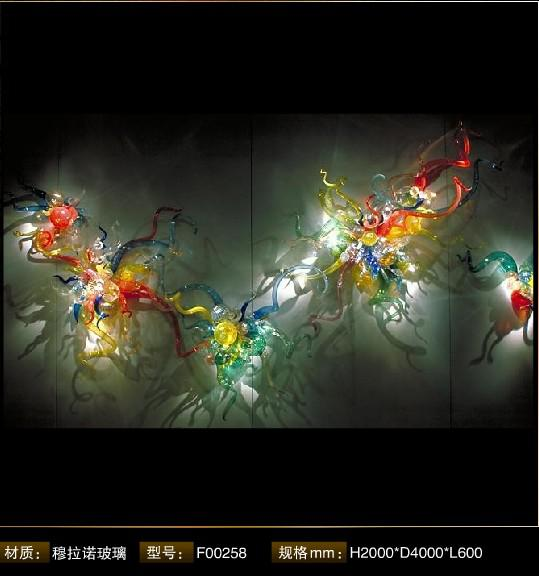 2017 hand blown glass art decoratiove lighting as wall. Black Bedroom Furniture Sets. Home Design Ideas