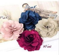 Barrettes & Clips   Free Shipping Hot Lady style Silk Flower hair clips ,Brooch 50 Pcs Lot