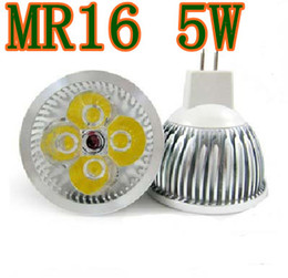 Wholesale New on sales MR16 LED Spotlight Light W With cool Warm White With Lm Bulb Lamp V