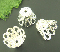Wholesale bag Silver plated X5 x9mm bead cap Jewelry Findings Fashion HOT Sale HI Q
