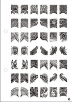Wholesale Nail Art Stamping Plate XL A to E designs