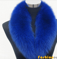 Wholesale High end women s fox fur collar fur collar Fruit collar scarf scarf Navy blue