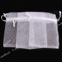 Favor Bags Wedding gift - 200pcs Wedding Gift White Organza Pouches Bags presant Candy Bags New Arrival mm