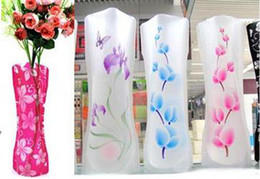 Wholesale 20pcs Magic Foldable Resuable Collapsible PVC Flexible Vase for Flower Planting Vase flower