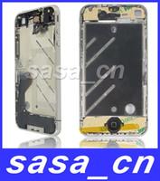 Compra Ems completa-Asamblea completa de las piezas llenas del chasis del marco de la bisagra original de plata para el iPhone 4 4G Envío libre por el ccsme o DHL