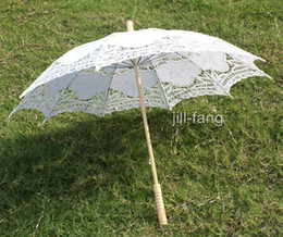 Wholesale Battenburg WhiteLace Parasol Umbrella Wedding Bridal