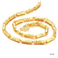 Wholesale fashion style bamboo necklace cm gold plating cool style for men DL438