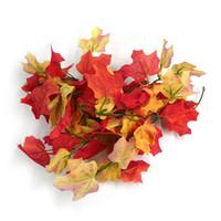Wholesale Fall Maple Leaf Silk Garland Wedding High Quality J9031