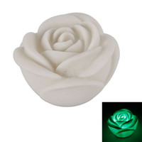 Wholesale Romantic Rose Flower Colorful Night Light White