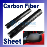 Wholesale 3D Diagonal Carbon Fiber Vinyl Film Sheet quot x quot BL Twill Weave Car Mirror Truck