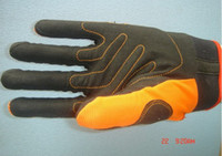 Wholesale C Fashion HygyCare PAD ORANGE CE Leather Mechanical Working Glove Good Resistance To Tear