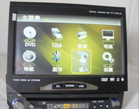 Wholesale CLP classic retractable inch touch screen Car DVD Single Din Din FM Bluetooth Rearview General