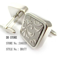 Wholesale Gemelli da polso Cuff links supplier Metal cufflinks Mens cufflinks shirts cuff button fashion DD177