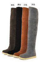 Knee Boots over the knee boots - Women s Shoes Over The Knee Boots Suede Flat Boots US4