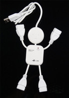 Wholesale High Speed USB Port USB HUB Doll Shape USB Hub