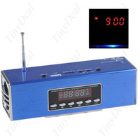 Wholesale Multi Function Rechargeable Mobile Stereo Speaker w FM Radio quot Screen TF USB Reader