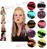 Wholesale 16 animal print hair Zebra print hair extensions clip in Go Wild colors THT012