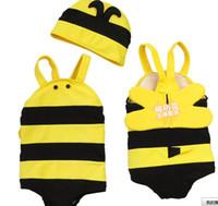 Girl bee bikini - new children s wear swimsuit swimsuit small bee lovely children suit