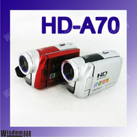 Wholesale 8GB SD Card HD A70 MP Digital cmaera Digital video camcorder HD A70 Inch LCD Screen x Digita