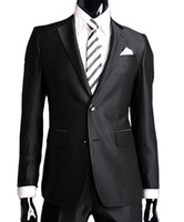 Wholesale hot sale silm men s suits wedding suits pants two button wool western style men s dress