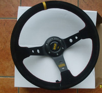 Wholesale OMP Black inches leather Sport Steering Wheel for Modified Car Sports Car Show Your Style