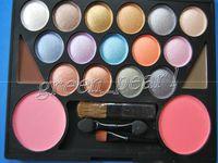 Halloween   NEW Fashion make up kit 15 COLOR EYE SHADOW & 2 COLOR BLUSH 38G (12pcs lot)