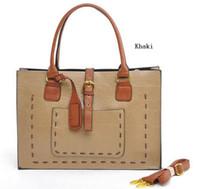 Wholesale Women s Big PU Leather Square Briefcase Portfolio Handbag Totes Hobos Shoulder Bag Envelope Bag