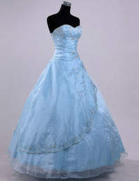 Wholesale 2012 Stock Light Blue Wedding Dress Pageant Ball Prom Sz6