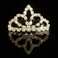 Wholesale Rhinestone Tiara Comb Crown Tiara Crystal Hair Jewelry assorted styles