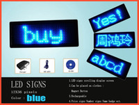 Wholesale N1236 Led Signs led mini badge color blue rechargeable quality assurance