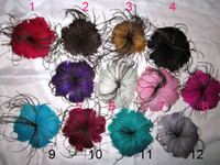 Wholesale NEW hot lady and grils hair accessory grace adornment feather elegance headwear hairpin noble yyh