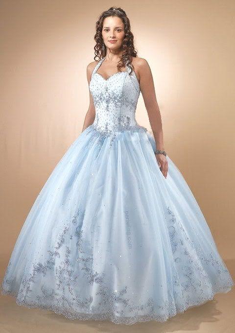 Wedding dress style baby blue wedding dresses for Wedding dresses for babies