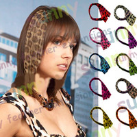 Wholesale 16 quot Leopard Print Heat Friend Synthetic Hair Extension Clip In Feather Exensions TPE008