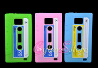 Wholesale 200pcs New Cassette Tape Silicone Case Cover Skin For Samsung Galaxy S2 i9100