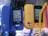 Wholesale 10pcs color Anti cellphone Telephone Handset Dock for Iphone GS G kk