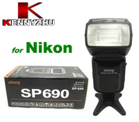 Wholesale Speedlite Speedlight OLOONG SP For DSLR Nikon i TTL Autoflash Flash Light GN LCD Display