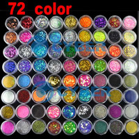 Wholesale Hot Nail Art Pots Kinds of Glitter Decoration Powder Crush Shell Bead for Christmas