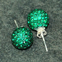 Wholesale Green mm Sterling Silver Crystal Earring Gift Box choose color pairs