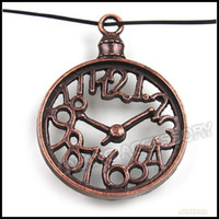 Wholesale 39mm Clock Metal Pendant Alloy Red Copper Fashion Jewelry Findings For Handcraft
