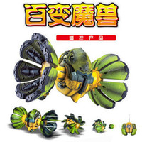 Wholesale free shippping novelty rc toy monster shocker changeable rc toy transformabl rc monster