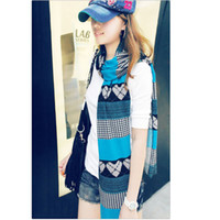Wholesale Fashion Cashmere scarf shawl Soft Scarves Printing Heart Blight color joint together scarf x37cm