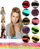 Wholesale 16 animal print hair extensions zebra print Go Wild dramatic clip in colors IT001