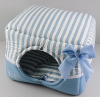 Wholesale Korea BOTH striped Cartoon butterfly Pet Nest Kennel Sofa multi functional Dog House