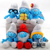 Wholesale brand new Christmas gifts Cute The Smurfs Plush Toy Doll Styles Smurfs With Suckers Doll Gift
