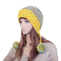 Wholesale China Hot Sell The Newest pure manual weaving hat colourful widened knitted cap colors