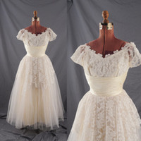 Lace wedding dresses 2011 - 2011 Sexy V Neck A Line Short Sleeves Lace Tulle Floor Length Wedding Dresses EB03