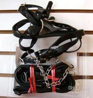 Cheap Sex Bondage Belt Leather Collar cuffs Set Hand+Leg Bondage Gear Sex toys Products 1pcs .xgirl