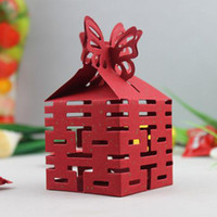 Wholesale 50Pcs Chinese new year candy box Wedding favors gift box sweet boxes Sunshine Gold